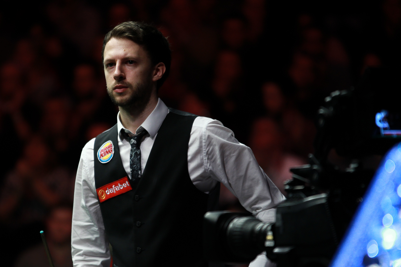 A nervous Judd Trump before playing the 'greatest match you will ever see'. Image courtesy of worldsnooker.com